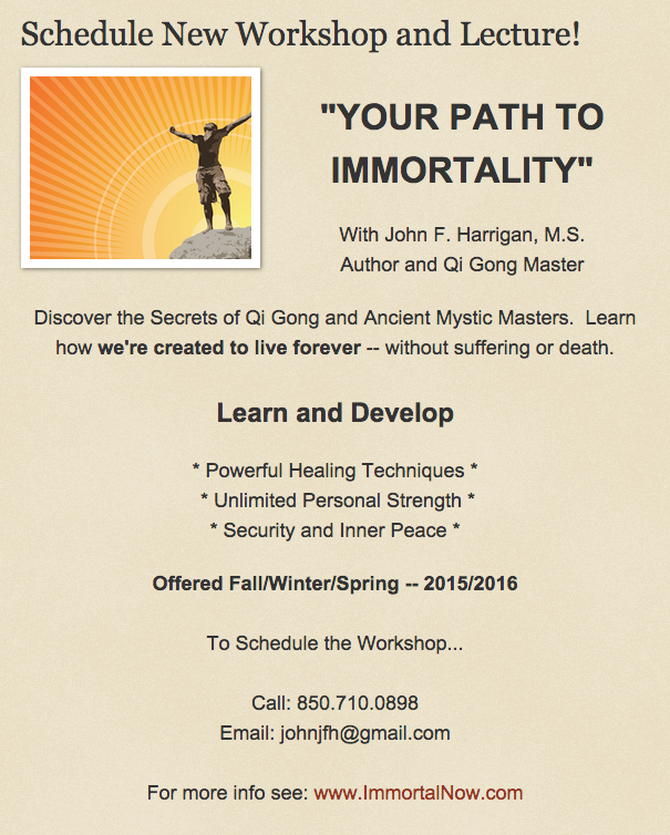 Qi gong Workshop: Schedule Now!