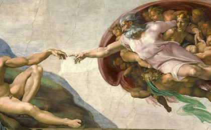 Michelangelo God and Man 91K jpeg